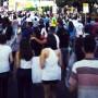 Manifestação na av. Frei Serafim em Teresina (Foto: Hideki Kozuma)