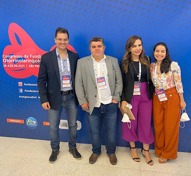 Da Esquerda para Direita: Dr. Victor Eulálio, Dr. José Wilson, Dra. Lizandra Hkeely e Dra. Maria Eudiane.